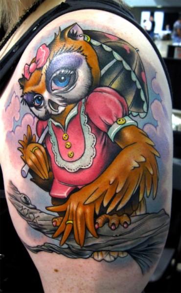 New School Girly Tattoos: Tattoo Inspiration Girly Owl Tattoo Uploaded By Omega